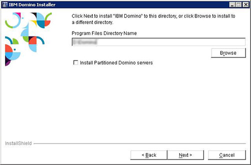 IBM Domino 9 Social Edition Install screen shot