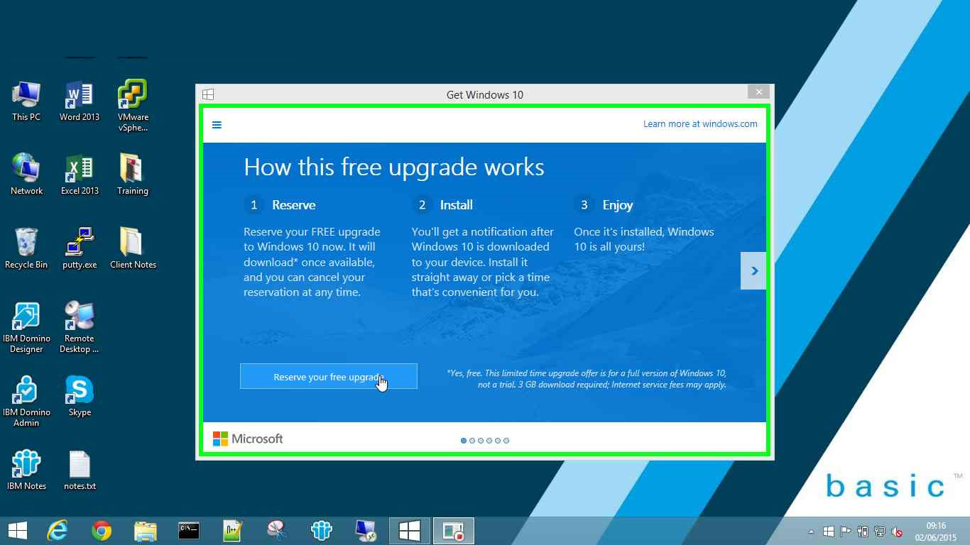 Get Windows 10 - Step 1