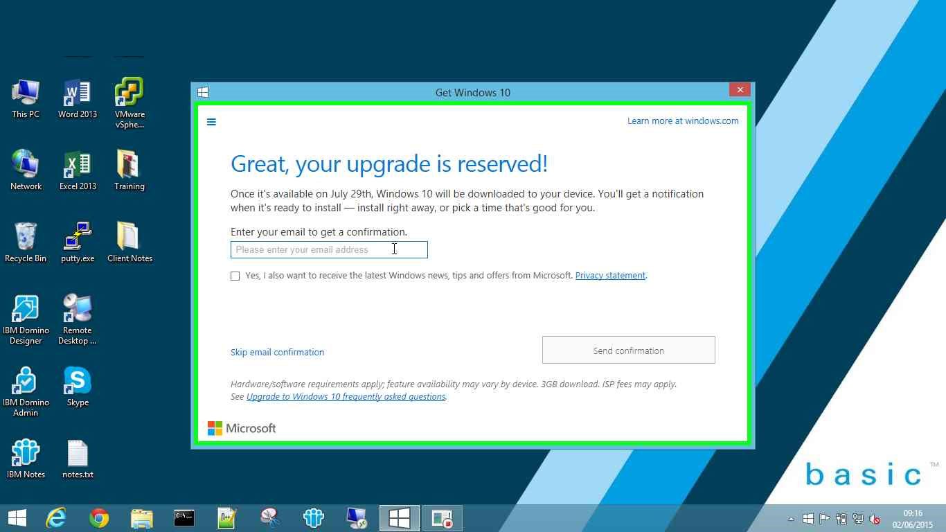 Get Windows 10 - Step 2