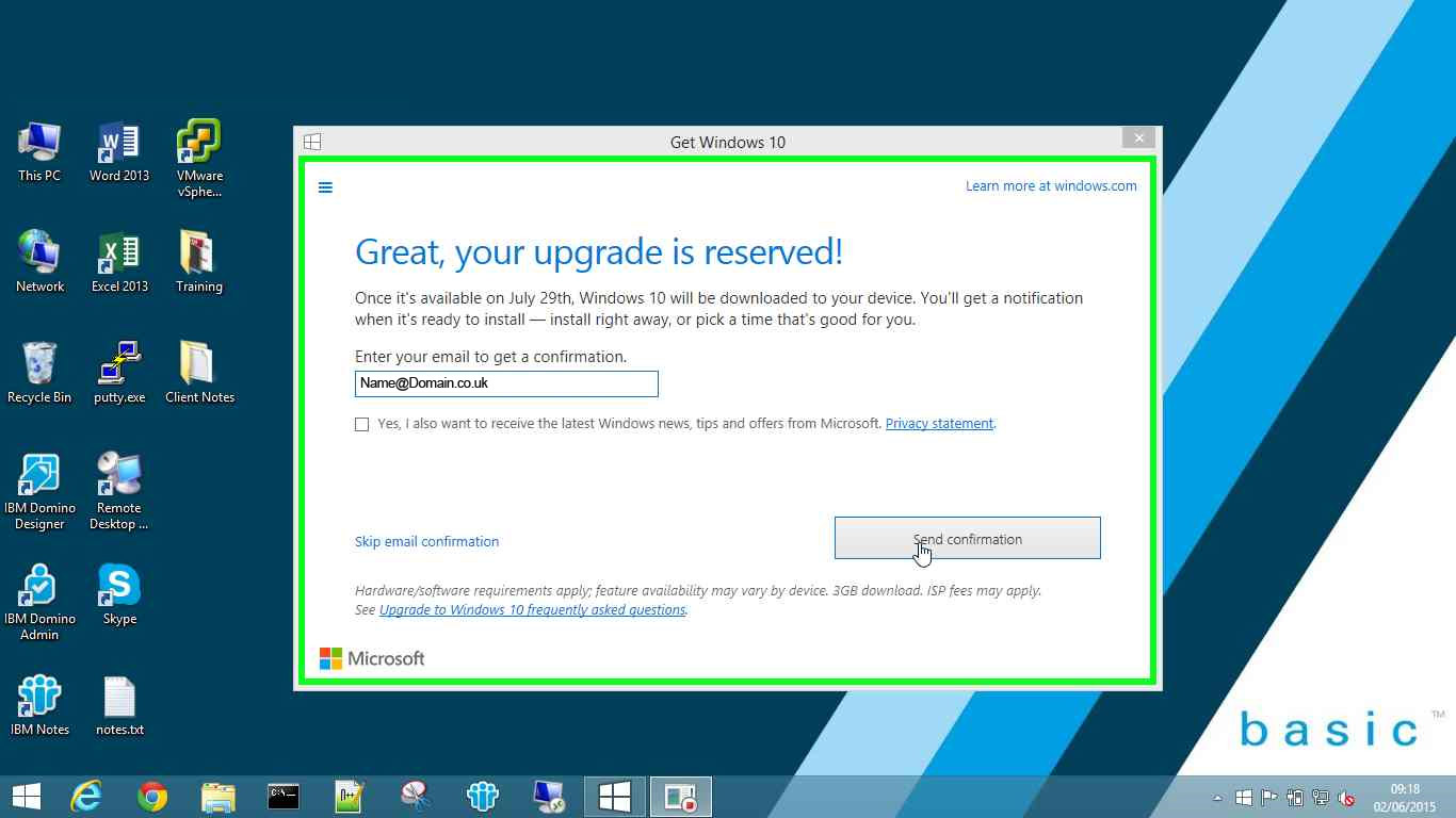 Get Windows 10 - Step 4