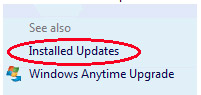 Remove Windows 10 - installed updates